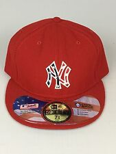 New York Yankees Red Patriotic Stars & Stripes July 4th New Era Fitted Hat 7 5/8