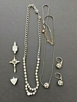 6 pieces vintage rhinestone jewelry 2 necklaces 3 pendants matching earrings