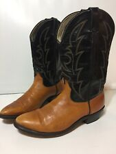 Laredo Brown/Black Cowboy Western Boots Mens Size 10 D Made in USA
