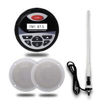 """Marine Audio Package Gauge Stereo Bluetooth Motorcycle Radio+4"""" Speakers+Antenna"""