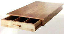 2 Piece Bamboo Wooden Food Cutting Chopping cheese board with utensils drawer ex