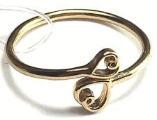 Fashion Fashion Costume Jewelry 3 Ring Set Gold Color 2 Heart 1 Leaf Size 8 NEW