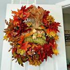 Halloween Fall Autumn Happy Harvest Scarecrow Door Wreath