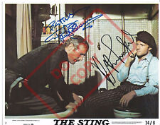8.5x11 Autographed Signed Reprint RP Photo The Sting Paul Newman Robert Redford