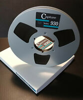 "1/2"" x 3600' Reel To Reel Tape Capture 930 on metal reel for Otari, Ampex, ATR"