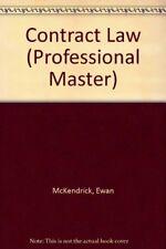 Contract Law (Professional Master),Ewan McKendrick