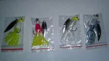 Lot of Four New 1/16 oz Crappie Jigs With Spinner
