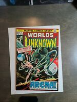Worlds Unknown # 4 VF Man vs Monster Marvel Comics May 1973