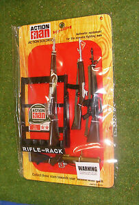 VINTAGE ACTION MAN 40th CARDED ACTION SOLDIER RIFLE RACK 34265 1/6 SCALE