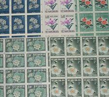 VIETNAM SOUTH 1965 Mid Autumn Festival..FLOWERS..25 SETS in MINT BLOCKS..cv£275