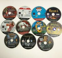Lot of 11 PS2 PlayStation 2 Games DISCS ONLY Rayman Tony Hawk Ratchet Simpsons