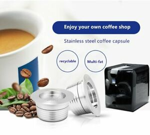 Stainless Coffee Pods Reusable Capsules Cup For LAVAZZA Blue LB951/ SAECO CB-100