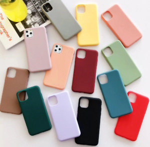Silicone Case For iPhone 12 11 Pro Max  SE 2 X XS MAX XR 7 8 Plus Slim TPU Soft