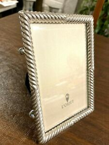 L'Objet Picture Twist Frame Siver Plated 4 x 6