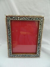 "Egyptian Wood Mother of Pearl Picture Handmade Frame 11 X 8.75"" #243"