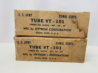 Pair 1943 Hytron JAN-CHY-837 / VT-101 tube - New Old Stock / New In Box