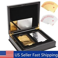 Set Of 2 $100 Gold & Silver Playing Cards Regular Poker Deck Collectible /w Box
