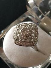 Anello in argento 925 quadrato filigrana con zirconi A22