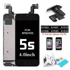 For iPhone 5S Touch Screen LCD Display Digitizer Assembly Home Button Black