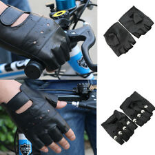 Cool Windproof Warmer PU Leather Fingerless Dance Cycling Driving Gloves Unisex