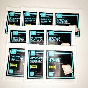 Optifoam Gentle EX 6x6 in Square 10 Sterile Wound Dressings Foam 12/22 MSCEX66EP