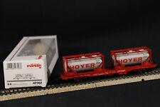 c2h MÄRKLIN H0 47707 - Güterwagen Containerwagen 'Hoyer' der DB Cargo in OVP
