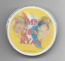 Romney 2012 Ryan floating heads motion picture flasher pinback button pin