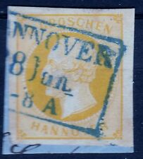 "== AD Hannover Mi. 16a gest. blauer L3 ""HANNOVER"", Kat. 85€ =="
