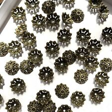 METAL FINDINGS BEAD CAPS LOT FOR JEWELRY MAKING CRAFTING USE BRASS TONE