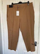 BNWT Next Tailoring Women's Brown Smart Capri Trousers Size 20L