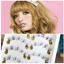 10 Pairs Black Natural Lower Under Bottom False Fake Eyelashes Eye Lashes Makeup