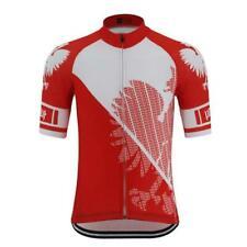 Poland Polish Polska Cycling Jersey mens Cycling Short Sleeve Jersey