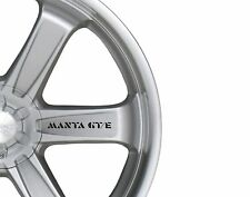 6x Car Alloy Wheel Sticker fits Opel Manta GTE Decal Vinyl Adhesive PT65