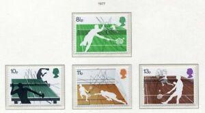 S2657) UK Great Britain 1977 MNH Wimbledon Tennis 4v