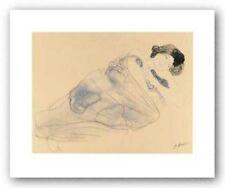 Femme vetue allongee sur flanc August Rodin Art Print 26x34