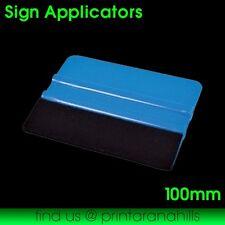 Vinyl Car Wrap Applicator Soft Felt Edge Plastic Squeegee Tool - 100mm #3900