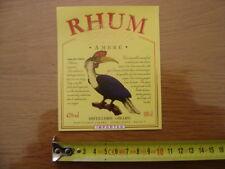 Etiquette RHUM CALAO distillerie GIRARD