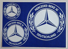 MBIG Aufkleber 3fach Mercedes W120 W121 W110 W108 W109 W111 W112 W113 W114 W115