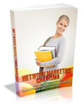 Network Marketing Charisma Ebook On CD $5.95 Plus Resale Rights Free Shipping