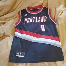 Portland Trailblazers Damian Lillard throwback Adidas Jersey. Size M