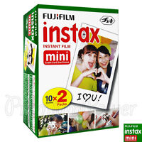 20 PCS BOX Fujifilm INSTAX MINI Instant film picture for camera 7s/8/25/50/90/70