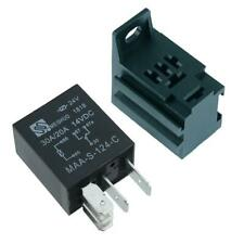 12V Micro Automotive Changeover Relay 30A 5-Pin SPDT + Holder Socket