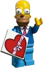 The Simpsons 2 Lego collectible minifig Homer Sunday Best + suit valentine heart