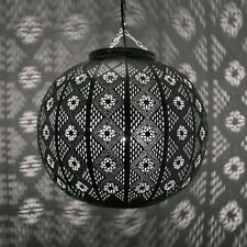 Lámpara Oriental marroquí Lámpara de Techo Lámpara Colgante 38cm PLATA Mimosa