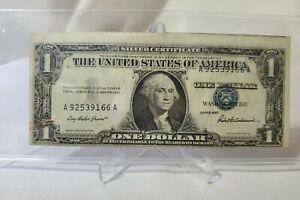 $1 Note Silver Certificate Series 1957 Serial # 'A92539166A Error-MisPrint