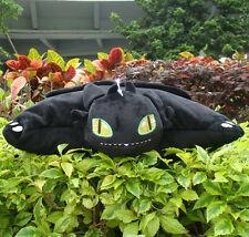 """How To Train Your Dragon Plush Stuffed Toothless 15"""" Black Cushion Pillow Cool"""