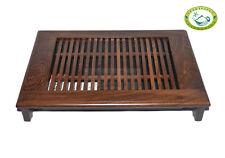 """QiFeng Wenge Wood Gongfu Tea Table Serving Tray 13.4""""x9.45"""" / 34cm*24cm"""