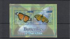 Liberia 2011 MNH Butterflies of West Africa 2v Sheet Mimic Wandering Donkey
