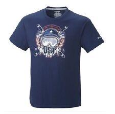 Mens Columbia Millenium Flash USA Freestyle Ski Team S/S T Tee Shirt Blue 2xl