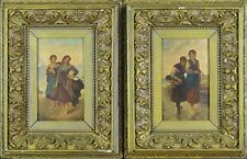 19th Century Oil On Panel - A pair